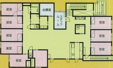 なでしこ館(1階間取り)
